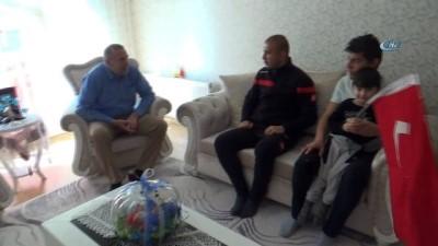 Afrin'de yaralanan Çankırılı Gazi baba evinde