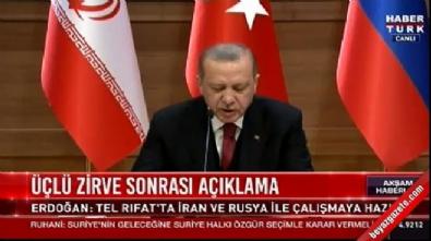 Cumhurbaşkanı Erdoğan'dan 'durmayız' mesajı
