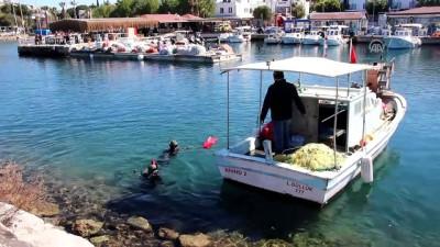 Deniz dibi temizliği - Sualtı kamerası - MUĞLA