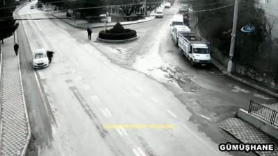 Gümüşhane'deki kazalar MOBESE kameralarına yansıdı