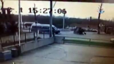 Bir kişinin öldüğü traktör kazası güvenlik kamerasında