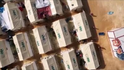 - Doğu Gutalı Aileler İçin Yeni Kamp - İdlib'e Bağlı Der Hassan Köyü'nde Kurulan 350 Çadıra Aileler Yerleştirildi