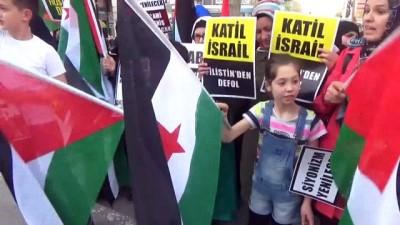Filistin'deki saldırı Bursa'da protesto edildi