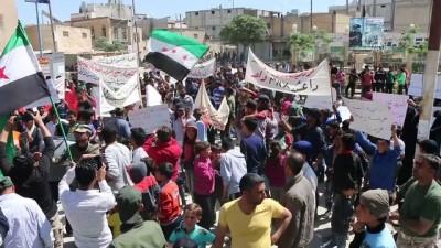 Cerablus'ta YPG/PKK protesto edildi