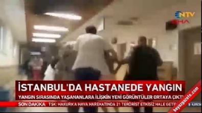 Gaziosmanpaşa Taksim Eğitim ve Araştırma Hastanesi'nde yangının çıkış anı