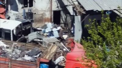 Hurda dükkanında bulunan tüp patladı:1 ölü