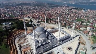 Yapımında sona gelinen Çamlıca Camii havadan görüntülendi