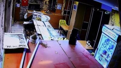 Bolu'da deprem anında yaşanan panik güvenlik kameralarına yansıdı
