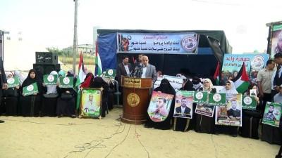 isgal - Gazze sınırında Filistinli tutuklulara destek gösterisi - GAZZE