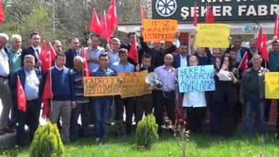 hassasiyet -  Kastamonu Şeker Fabrikasında çalışan taşeron işçiler kadro istiyor