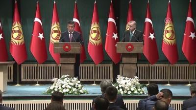 Kırgızistan Cumhurbaşkanı Ceenbekov: 'Görüşmelerimizin Kırgız-Türk ilişkilerine yeni ivme kazandıracağını ümit ediyoruz' - ANKARA