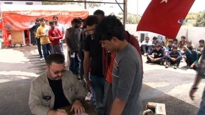15 kişilik minibüste 33 kaçak göçmen