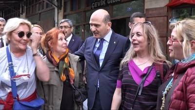 İçişleri Bakanı Süleyman Soylu esnafı ziyaret etti