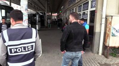 Polis, terminal ve garda denetim yaptı - KIRKLARELİ