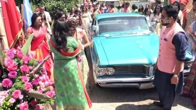 Hint düğününde gelin ve damada 'mehterli' karşılama - MUĞLA