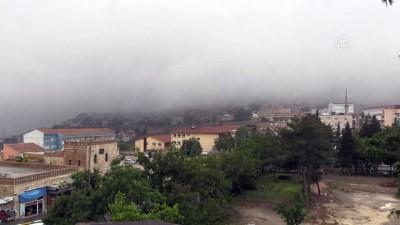 Mardin'de sağanak ve sis