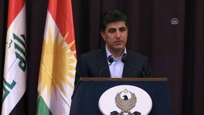 IKBY Başbakanı Neçirvan Barzani basın toplantısı (1) - ERBİL