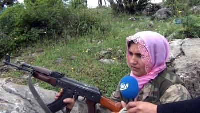 teror saldirisi -  Şehit eşinin silahını devraldı