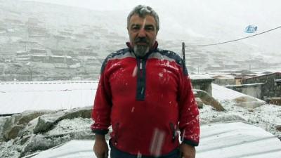 Rize'de Mayıs ayının ortasında kar sürprizi