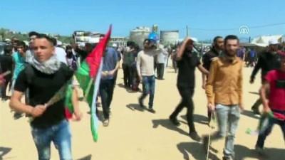 Filistinliler 'milyonluk yürüyüş' için Gazze sınırında toplanıyor (2)
