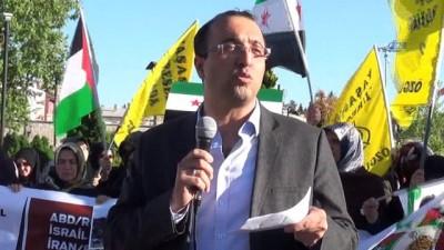 Sivas'ta ABD Büyükelçiliği protestosu