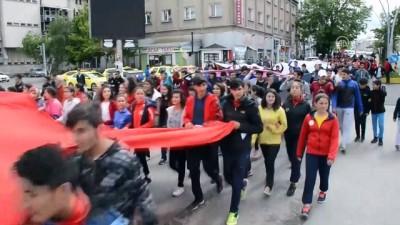 19 Mayıs Gençlik Haftası'nda ABD ve İsrail protesto edildi - AĞRI