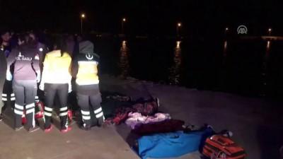 Çanakkale'de kaçakları taşıyan tekne battı