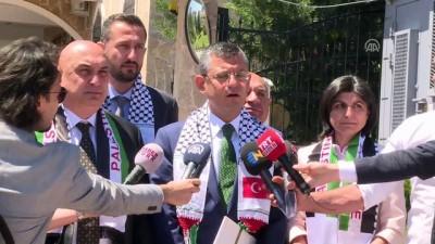CHP'li heyetten Filistin Büyükelçisi'ne dayanışma ziyareti - ANKARA