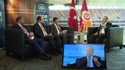 Galatasaray Kulübü Başkanı Mustafa Cengiz AA Spor Masası'nda (7) - Amatör sporlara kaynak - İSTANBUL
