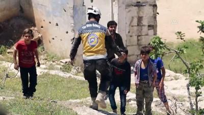 rejim karsiti - İdlib'e hava saldırısı: 2 ölü, 2 yaralı