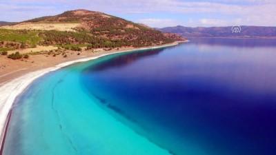 Salda Gölü Tabiat Parkı havadan görüntülendi - BURDUR