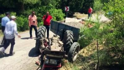 - Dalaman'da traktör kazası: 1 ölü