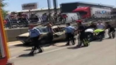 Denizli'de 6 araç birbirine girdi: 2 yaralı