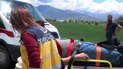 Otomobil aydınlatma direğine çarptı: 3 yaralı - ERZİNCAN