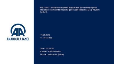 Sırbistan'da uçak düştü: 2 ölü - BELGRAD