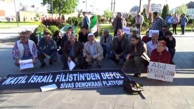 Sivas'ta, Filistin için oturma eylemi