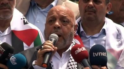 HAK-İŞ, İsrail Büyükelçiliği önüne siyah çelen bıraktı