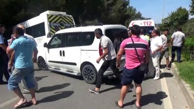 Öğrenci servisiyle hafif ticari araç çarpıştı: 1 yaralı - MUĞLA