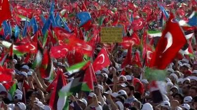 """Cumhurbaşkanı Erdoğan: """"Müslümanlar aralarındaki çatışmalarda ne kadar tahammülsüz, vicdansızsa, hasımlarına karşı o kadar pısırık, cesaretsiz, korkak bir görüntü içindeler"""""""