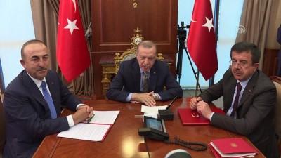 Cumhurbaşkanı Erdoğan, Venezuela Devlet Başkanı Maduro ile telekonferansla görüştü (2) - ANKARA
