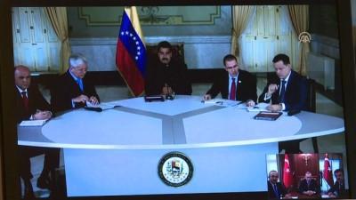 Cumhurbaşkanı Erdoğan, Venezuela Devlet Başkanı Maduro ile telekonferansla görüştü (3) - ANKARA