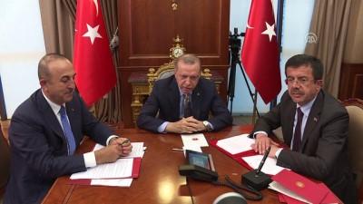 Cumhurbaşkanı Erdoğan, Venezuela Devlet Başkanı Maduro ile telekonferansla görüştü (4) - ANKARA