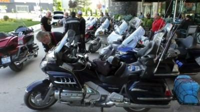 Goldwing motosiklet tutkunları Tokat'ta