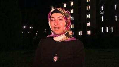 Öğrenciler İsrail'i ışıklarla protesto etti - ERZURUM/TUNCELİ/ŞIRNAK/SİİRT