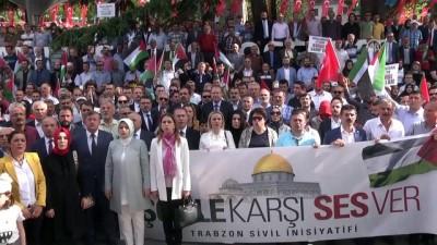 Trabzon'da 'İşgale Karşı Ses Ver' mitingi düzenlendi