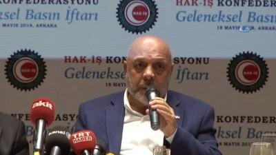 """legen -  HAK-İŞ Konfederasyonu Genel Başkanı Mahmut Arlan: """"Bütün arkadaşlarımızın kadroya girememesi bizim beklentilerimizi karşılamadı"""""""