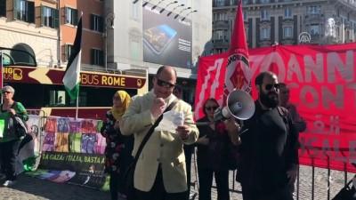 İtalya'da ABD Büyükelçiliği önünde Filistin protestosu - ROMA