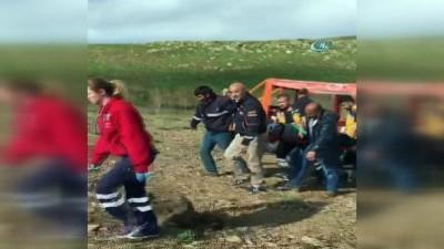 Kayalıklardan düşen vatandaşın yardımına AFAD yetişti