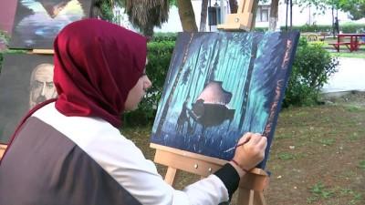 Okul harçlığını yaptığı tablolardan çıkarıyor - SAMSUN