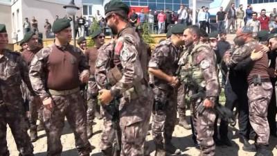 Cumhurbaşkanına suikast girişiminde bulunanları yakalayan tim Afrin'deki görevinden döndü